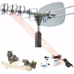 Outdoor HDTV Antenna Rotating Motorized Amplified High Gain