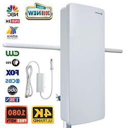 Outdoor HDTV Antenna-ANTOP 400-BV Flat Panel Amplified Anten