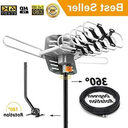 TV 150 Miles Amplified Digital HDTV Antenna with 360°Rotati