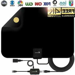 Vansky Indoor Amplified HDTV Antenna 50 - 80 Mile Range, NEW