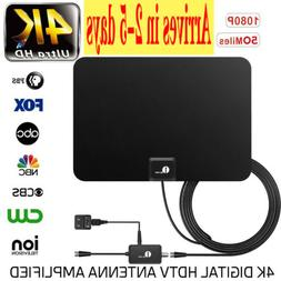 1byone Indoor Amplified HDTV TV Antenna 1080p HD FM/VHF/UHF