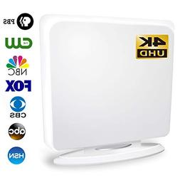 4K Indoor TV Antenna, Upgraded 60 Miles Long Range Amplified