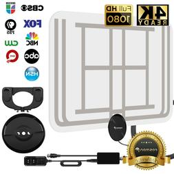 Fosmon 60 Miles Indoor Ultra Thin Transparent HDTV Antenna w