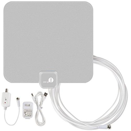 1byone 40 Miles Amplified HDTV Antenna with USB Power Supply