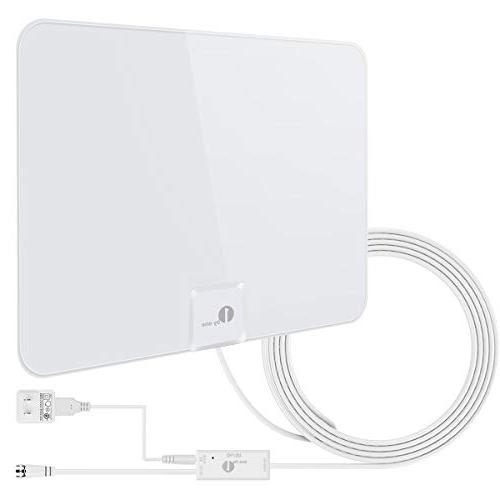 1byone Upgraded 2019 Digital Amplified Indoor HD TV Antenna,