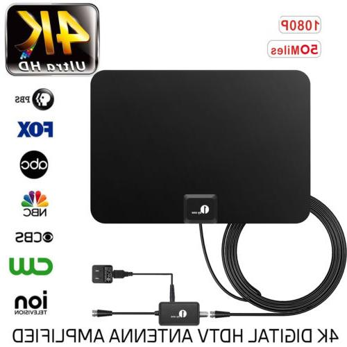 1byone amplified tv antenna digital indoor hdtv