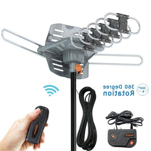 200 mile outdoor tv antenna motorized amplified