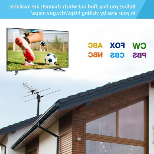 1byone Free TV Antenna Digital Signal Amplified for Outdoor 200 Miles