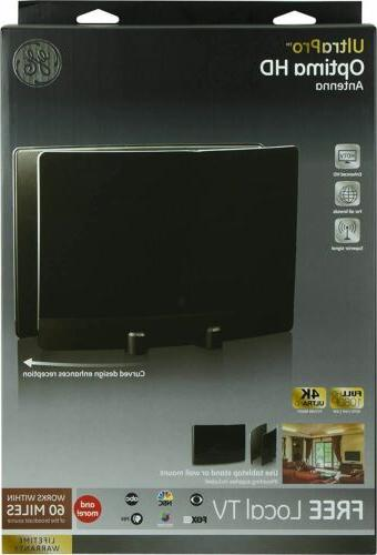 GE 34137 UltraPro Optima HDTV Antenna for Channels Indoor TV Antenna w