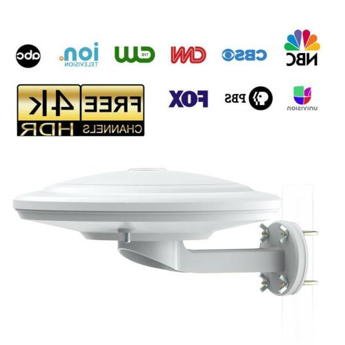 2018 Waterproof 360° Reception Amplified Outdoor HDTV Anten