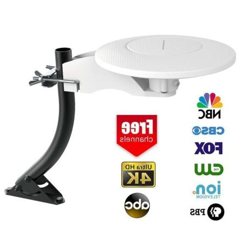 360°Reception Amplified Indoor/Outdoor Digital HDTV Antenna