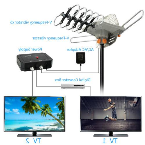 480Miles TV Antenna Motorized 4K 36dB