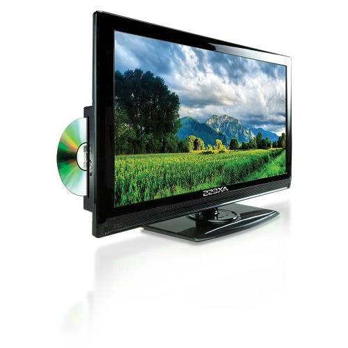Axess 15.6-Inch HDTV, Includes AC/DC TV, DVD Player,