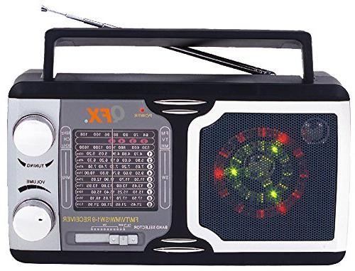 QFX R14 Retro Collection AM/FM/SW 1-9 Radio
