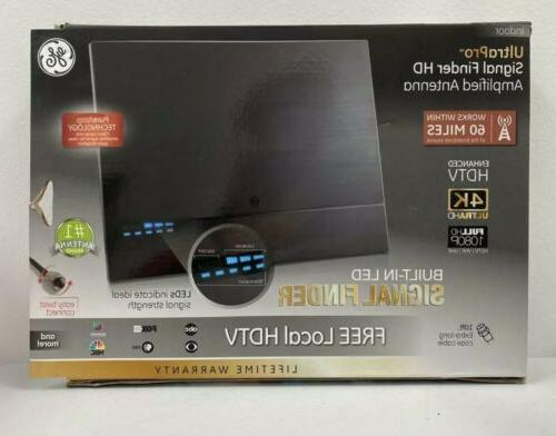 amplified hd tv antenna led signal strength