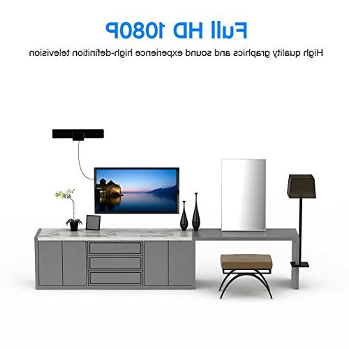 Amplified HDTV 50 Miles Range indoor Digtial with Detachable Amplifier 13 Coaxial Cable TV player reception 4K ready