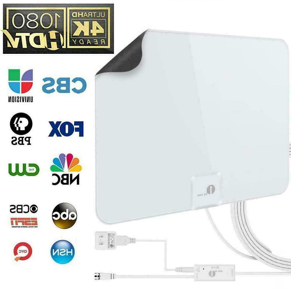 1byone 50 Miles Amplified HDTV Antenna w/ USB Power and 20ft
