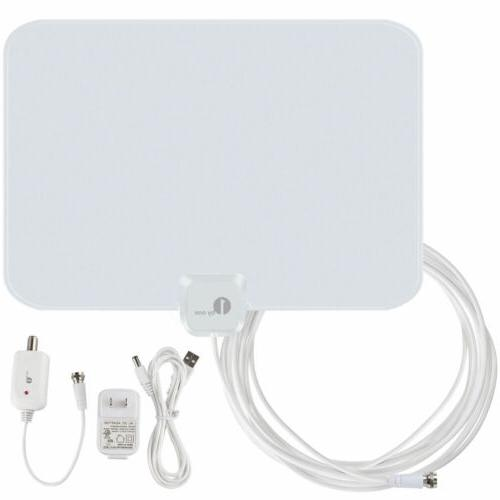1byone Antenna HD TV 50-Mile Amplified Skywire