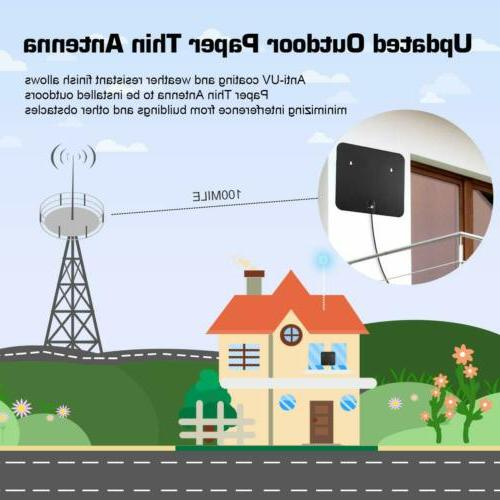 HDTV Antenna, 1byone Indoor/Outdoor Amplified Digital Antenna-Weathe