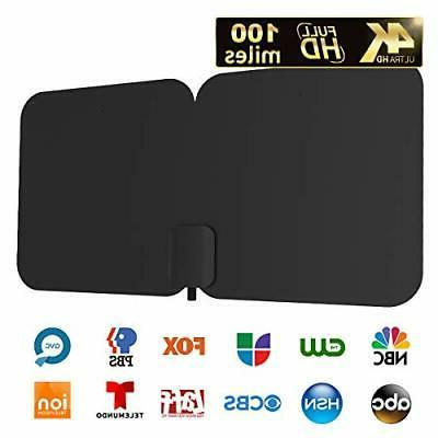 hdtv antenna 100 mile indoor outdoor amplified