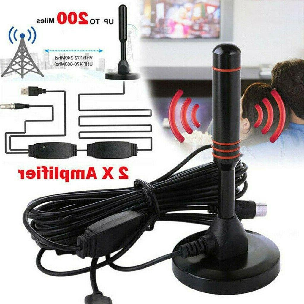 HDTV Antenna Aerial 300 Mile Digital Signal Booster Cable