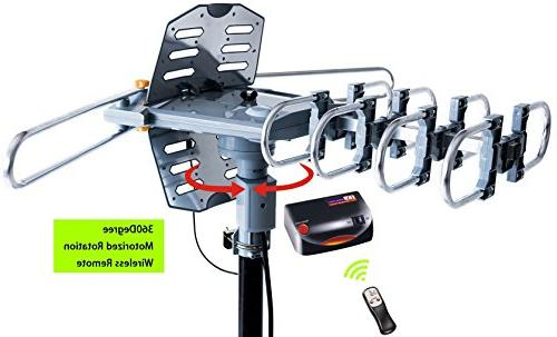 pingbingding Antenna Digital Outdoor Antenna with Mounting Miles Degree Rotation Installation