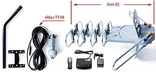 pingbingding Antenna Digital Outdoor Antenna Mounting Range-360 Degree Wireless Remote-Snap-On Installation TVs