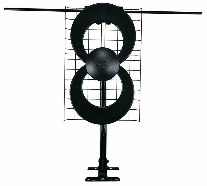 Hdtv Antenna With Mount 60 Miles Range Capacity Multi Direct