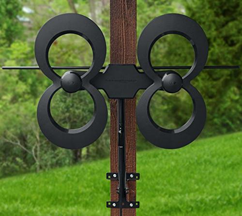 Antennas ClearStream 4MAX TV Antenna, 70+ Mile Range, Multi-directional, Outdoor, Pivoting Hardware, 4K Ready, -