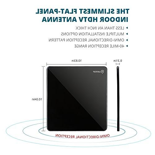 ANTOP 40 Miles Omni-directional Reception with 10ft Cable, Definition