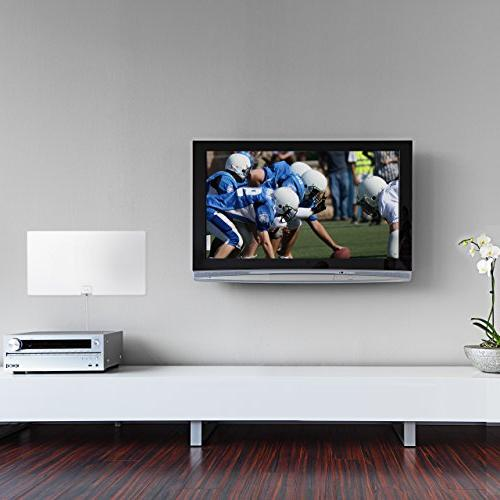 Mohu Leaf Glide HDTV Antenna, Indoor, Amplified, 65 Mile Paintable, Foot for USA