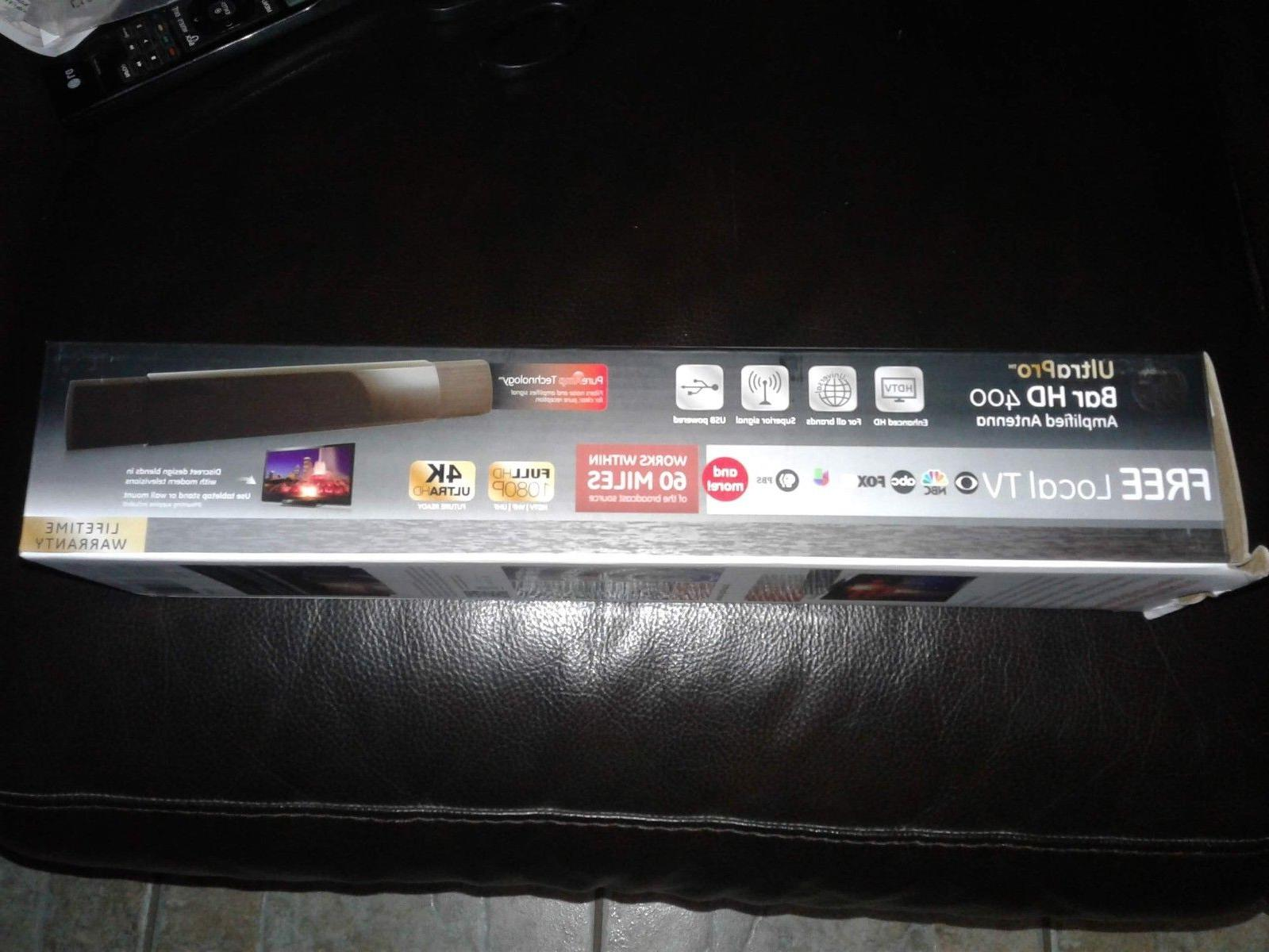 New GE UltraPro HD 400 Amplified Antenna Television w/USB