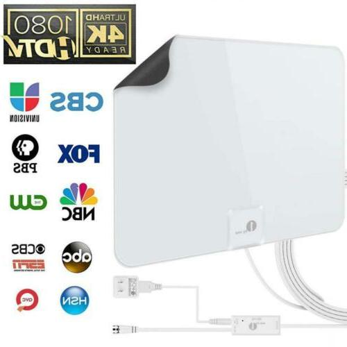 tv antenna 1byone amplified 50 mile hdtv