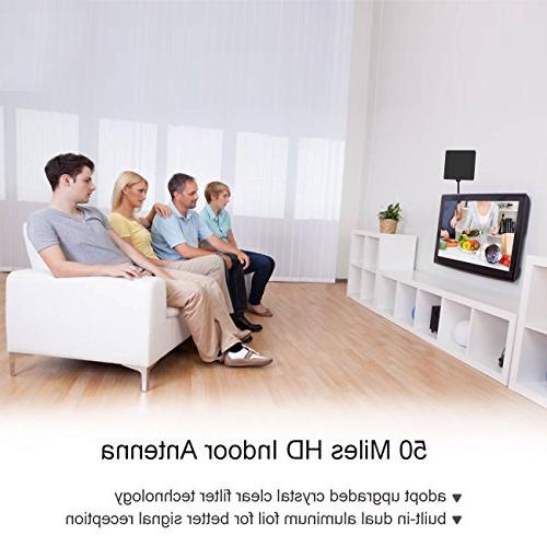 Sobetter TV Digital HD Antenna 50Miles 1080P Free Booster,Longer Cable