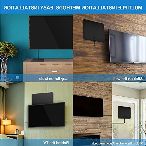 TV Digital HD Indoor Antenna 4K HD Freeview Channels & Amplifier and 10+2.62 Coax Cable