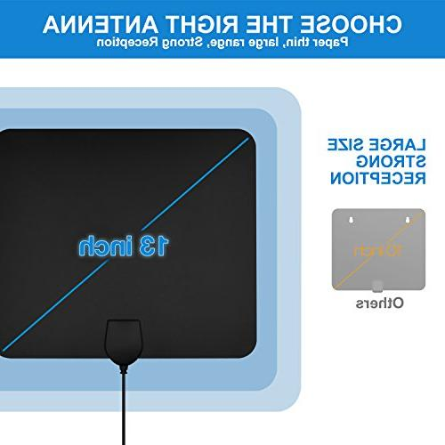 Digital Antenna 4K Freeview Channels Detachable Amplifier and ft Cable