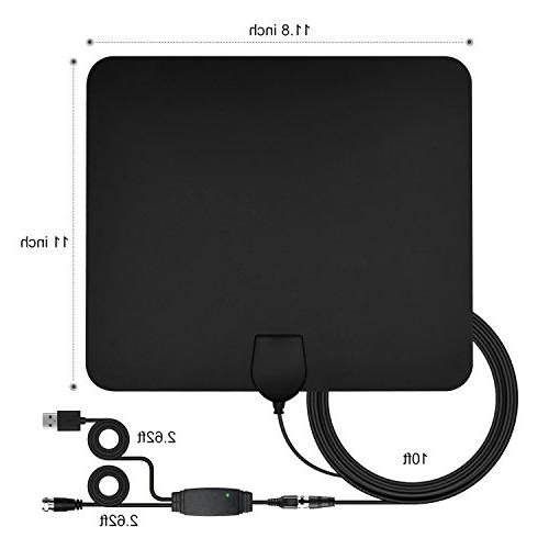 TV Antenna, Digital Indoor Antenna 4K Freeview Channels and Coax Cable