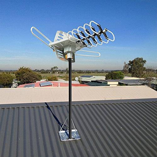 Vansky Outdoor Motorized 360 Degree Rotation OTA TV Antenna TVs Support - Wireless Remote 32.8' Cable
