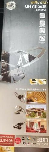 GE Ultra Pro Stealth 60 Mile Antenna Attic Indoor Outdoor HD