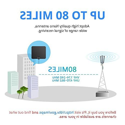 Indoor Mile VHF Life Local Channels and Programming All of