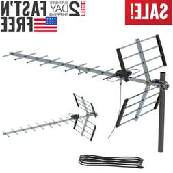 Leadzm 990 Mile Indoor Outdoor TV Antenna Digital HDTV 1080P