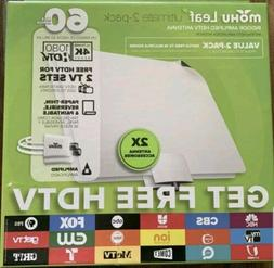 moHU Leaf ultimate 2-pack Indoor Amplified HDTV Antenna MH-1