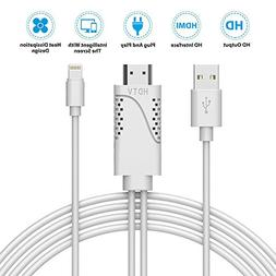 Ocamo Lightning to HDMI Adapter 1080P HDTV Cable with Coolin