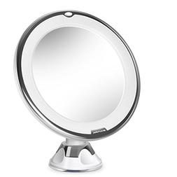 Beautural 10X Magnifying Lighted Vanity Makeup Mirror with N