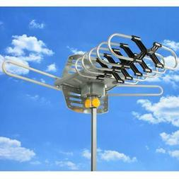 New HDTV Outdoor Amplified Antenna 360 Rotor Digital HD TV U