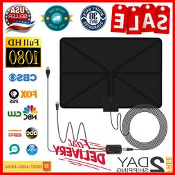 New Indoor Amplified HDTV Antenna Free Channels Cut Cable Li