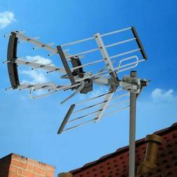Outdoor 200Mile TV Antenna Satellite Dish Amplified HDTV Dig