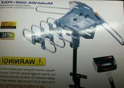 Outdoor TV Digital Antenna 150 Mile Motorized 360 Degree HDT