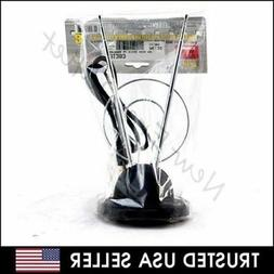 Rabbit Ear TV Antenna for HDTV Plus UHF/VHF with Dual loop a