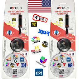 Super HD TV Antenna HDTV FREE Digital Channels w/ 10ft Cable
